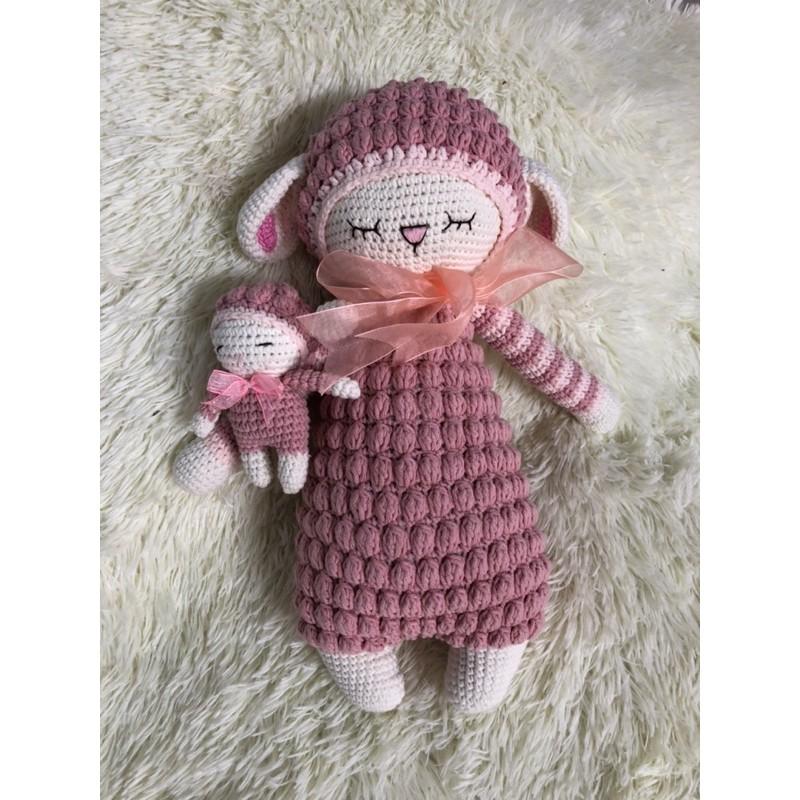 cặp cừu len nhồi bông cao cấp 45cm