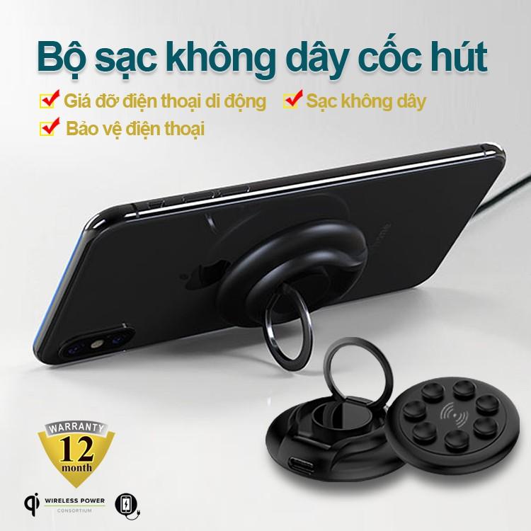 Bộ sạc không dây độc lạ công suất 10W kiêm giá đỡ điện thoại giúp bảo vệ điện thoại bảo hành 1 năm WX013 sạc điện thoại