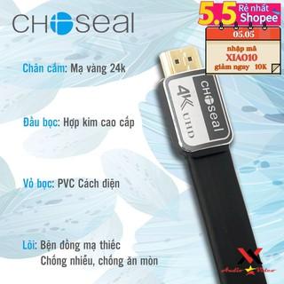(FREESHIP)dây Cáp HDMI Choseal 2.0/4K Cao Cấp tốc độ cao, Loại Dẹt, 15m, 20m, tivi, máy tính, camera