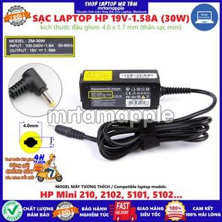 (ADAPTER) SẠC LAPTOP HP 19V-1.58A (30W) (Mini) kích thước đầu ghim 4.0 x 1.7 mm thumbnail