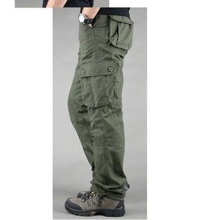 Quần Túi Hộp Nam Kiểu Lính QH 11.5 màu xanh quân đội