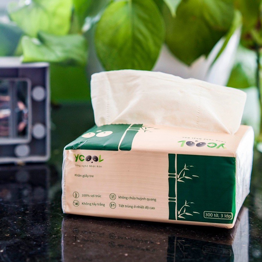 Combo 2 gói giấy ăn Ycool thiên nhiên chính hãng