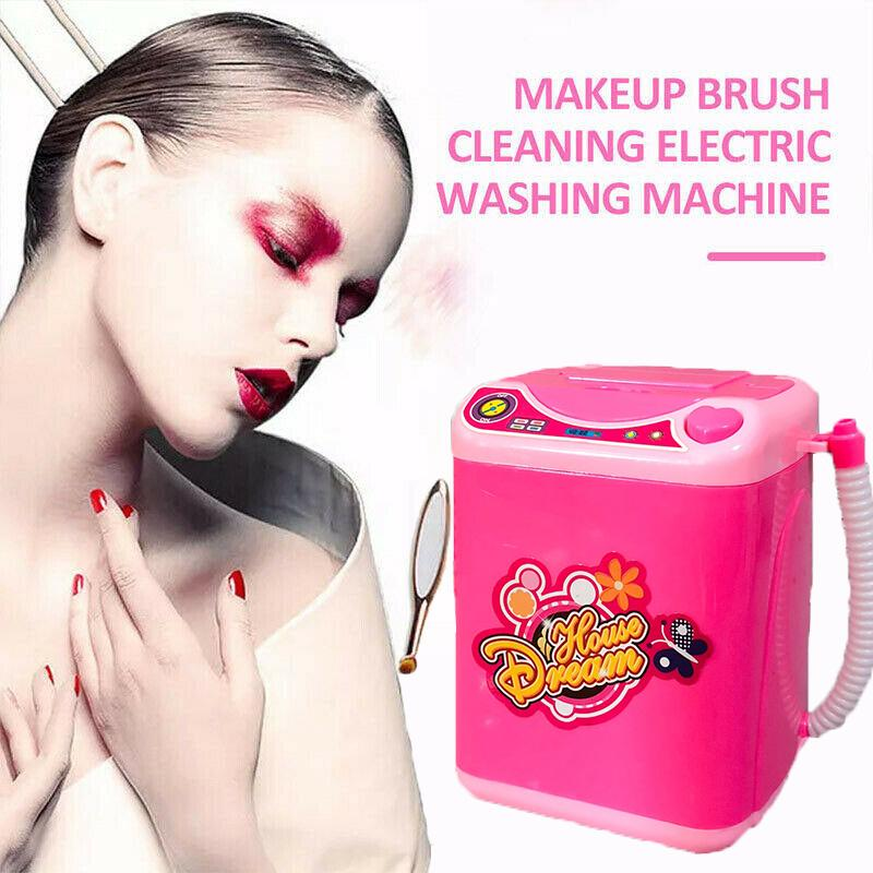 Kids Toy Gift Electronic Washing Machine Washer Brush Makeup Sponges Toys