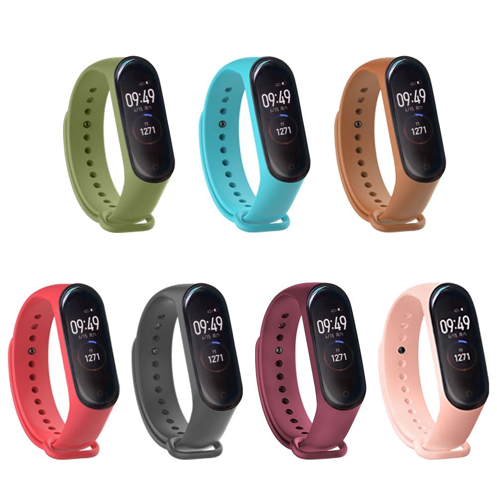 Dây đeo đồng hồ silicon chống thấm nước kiểu dáng độc đáo cho vòng đeo tay thông minh Xiaomi Mi Band 3/4