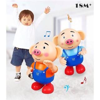 Chú heo Pegpa Pig biết nhảy biết hát có đèn LED phát sáng – tặng kèm 3 viên pin AA