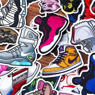 Hình Dán Sticker Sneaker – Bộ 10 20 50 Hình Dán Giầy Sneaker Trang Trí Mũ Bảo Hiểm Điện Thoại – Chống Thấm Nước