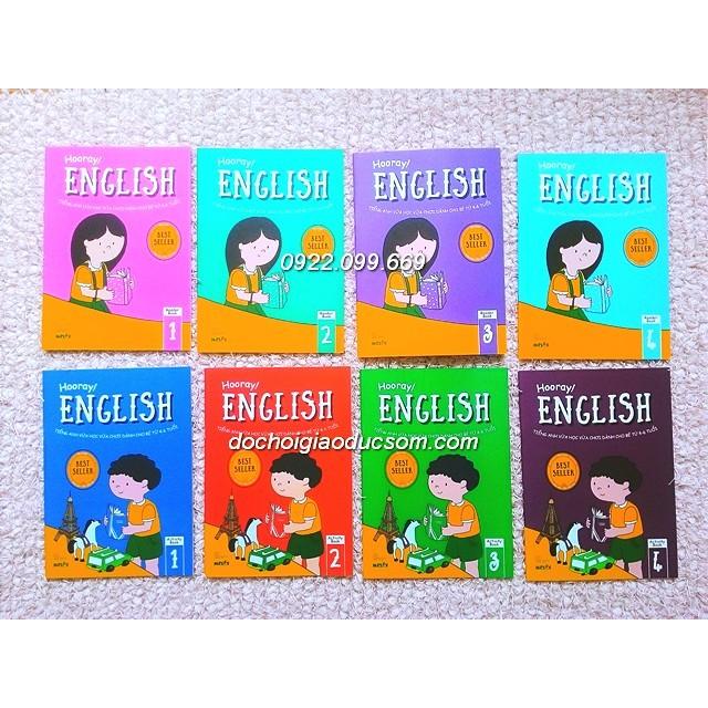 Hooray English - Bộ 8 cuốn - Tiếng anh vừa học vừa chơi cho bé