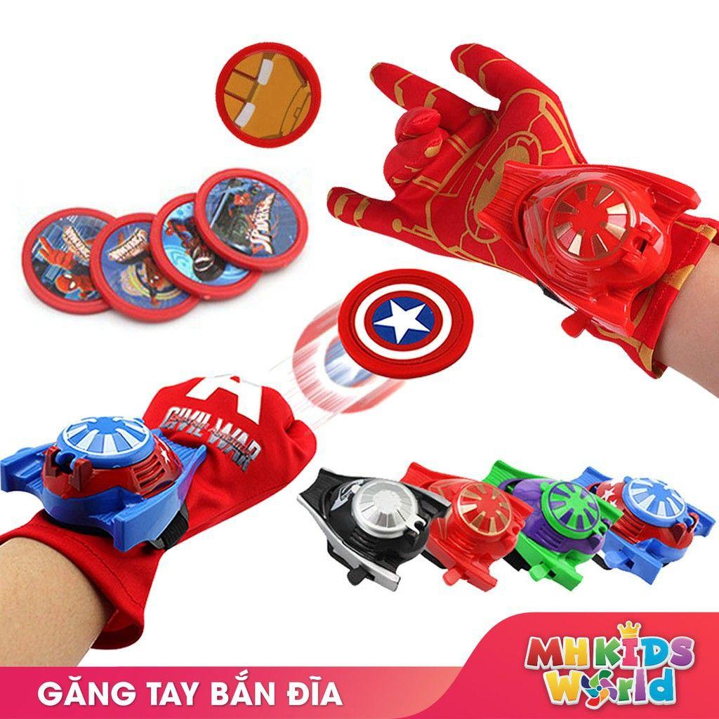 Găng tay bắn đĩa Avengers đồ chơi hóa trang cosplay halloween chơi Trung Thu, Sinh nhật cho trẻ em lứa tuổi 5+