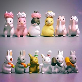 Bộ mô hình Thỏ Kute [ chất liệu nhựa cao cấp ]