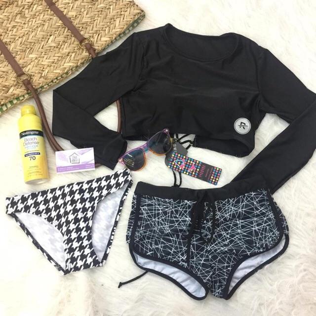 (Có sẵn) đồ bơi bikini dài tay hàn quốc 3 chi tiết áo đan lưng - 3118323 , 995417299 , 322_995417299 , 350000 , Co-san-do-boi-bikini-dai-tay-han-quoc-3-chi-tiet-ao-dan-lung-322_995417299 , shopee.vn , (Có sẵn) đồ bơi bikini dài tay hàn quốc 3 chi tiết áo đan lưng