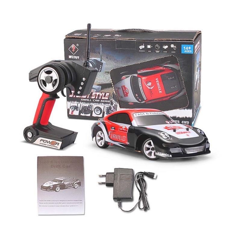 Xe Drift Cỡ Nhỏ Điều Khiển Từ Xa Tốc Độ Cao Wltoys K969, Hai Cầu, Khung Kim Loại Siêu Bền 1/28 2.4G 4WD Brushed RC Car