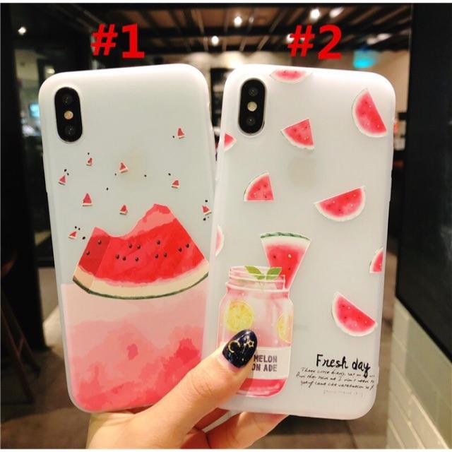 Ốp lưng điện thoại Iphone 5 5s 5SE 6 6s 7 8 Plus X trái dưa hấu