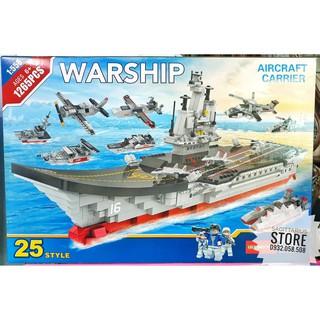 Lego Lele Brother 8565 Lắp Ráp Tàu Sân Bay WARSHIP tỷ lệ 1:155 ( 1265 Mảnh )