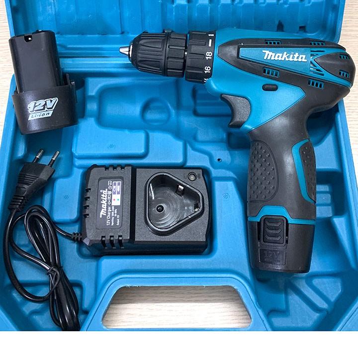 Máy Khoan Bắt Vít Dùng Pin Maktia 12V - Đa chức năng - 2 Pin - Máy bắn vít cầm tay mini - Tặng mũi khoan