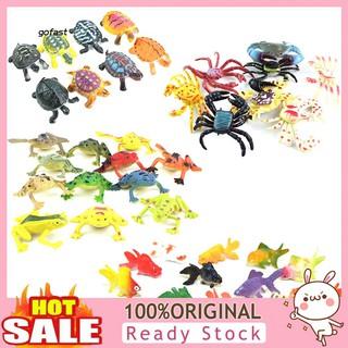 Mod-Mini Colorful Simulation Frog Goldfish Figures Animal Bath Educational Kids Toy
