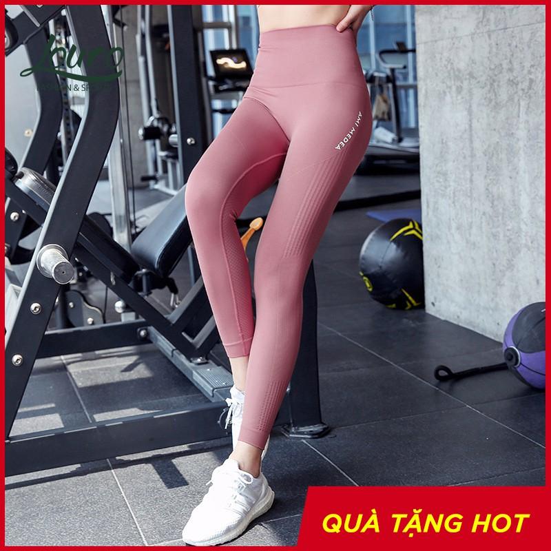 Quần tập Gym nữ Louro QL20 cạp lưng cao, co giãn 4 chiều, thoáng mát, dùng quần tập Yoga, Gym, Zumba, Aerobic