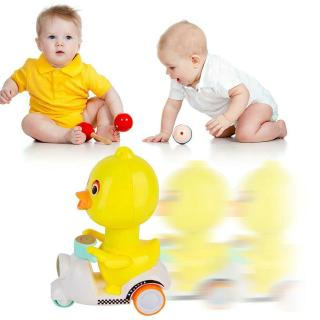Pressing Small Yellow Motorcycle Duck Pet Toy Cartoon Inertia Car Puzzle Doll