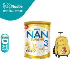 Sữa bột NAN Supreme 3 800g [Tặng Vali Con Sóc]