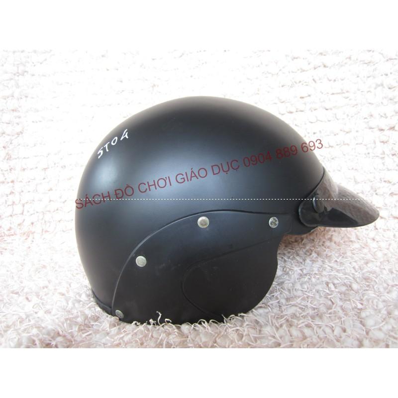 Mũ bảo hiểm cả đầu Sơn Tùng ST04 màu đen người lớn cỡ to
