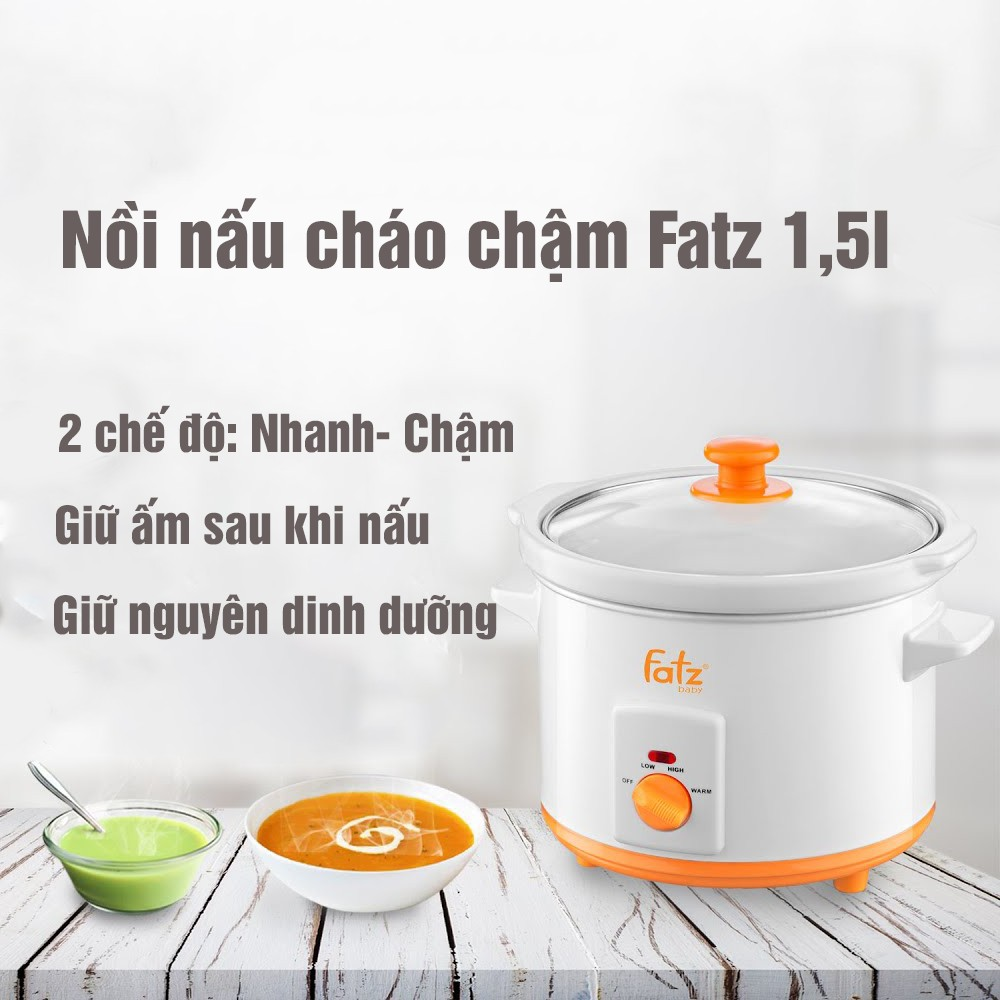 Nồi nấu cháo chậm Fatz Baby 1,5l
