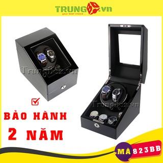 Hộp Đựng Đồng Hồ Cơ 2 Xoay 3 Tĩnh Vỏ Gỗ Sơn Mài (Đèn LED) - Mã 823BB thumbnail