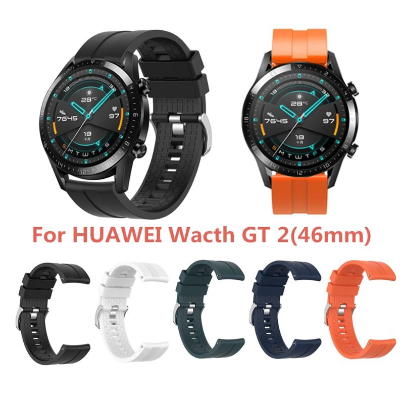Star♔ Sports Wristband Silicone Watch Strap for Huawei Watch GT2 46mm Gear S3 Classic
