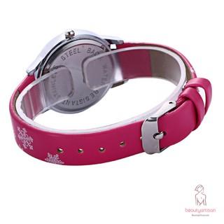 Đồng hồ dây da PU phối họa tiết công chúa băng giá xinh xắn dành cho các bé