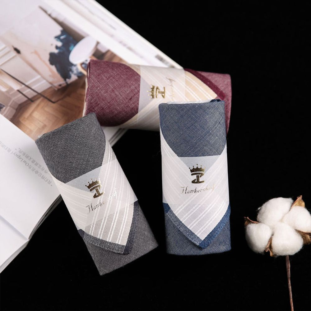 New Square Pattern Classic Men Hanky Plaid Handkerchiefs Pocket 43*43cm