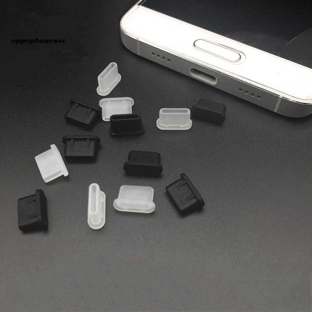 【OPHE】5Pcs Silicone Anti-Dust Type-C Tablet Phone Charger Interface Soft Plug Cover
