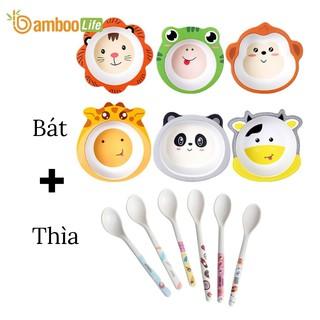 Bát, chén ăn dặm sợi tre hình thú Bamboo Life BL089 an toàn cho bé phong cách châu âu - Có kiểm định chất lượng thumbnail