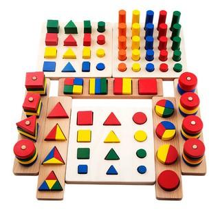 bộ đồ chơi xếp hình giải đố cho bé