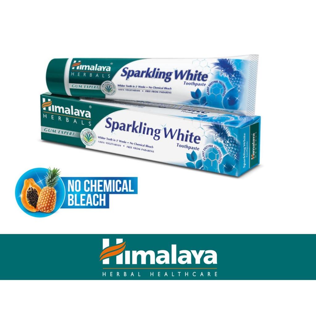 Kem đánh răng trắng sáng lấp lánh Himalaya Sparkling White Toothpaste 100g