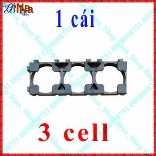 Khung gắn pin 18650 loại 3 cell Khay giá đỡ 3 cell pin 18650 3S 12v tiện dụng