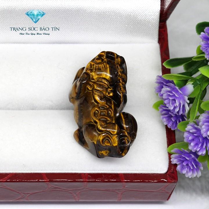 Mặt Dây Chuyền Tỳ Hưu Mắt Hổ Mini Phong Thủy Cao Cấp - Bảo Tín