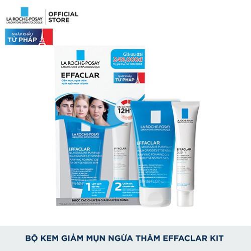 Bộ sản phẩm giảm mụn ngừa thâm siêu hiệu quả trong 12h La Roche-Posay Effaclar Kit