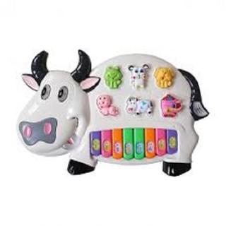 Đồ chơi đàn con bò, đồ chơi đàn (kèm pin)