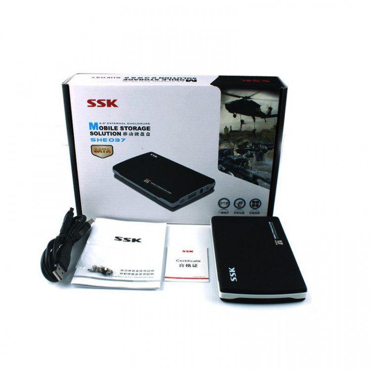 Hộp đựng ổ cứng di động HDD box SSK SHE037 Sata 2.5