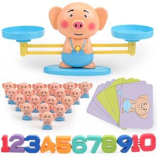 Bộ đồ chơi: Cân số học thông minh cho bé nhận biết số lượng- Cân thăng bằng – Vui toán học Free Ship Miền Bắc