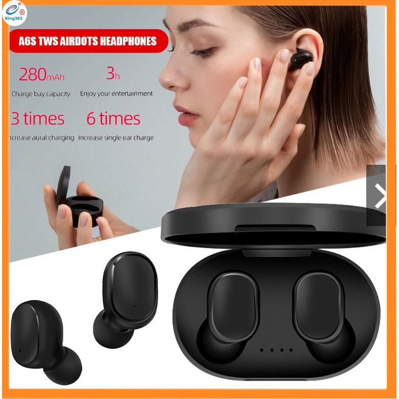 Tai nghe không dây Xiaomi - Redmi Airdots A6S Đen - Bluetooth 5.0, Pin 12 tiếng kèm hộp