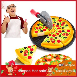 LYY_Child Kitchen Simulation Pizza Party Fast Food Slices Cutting Play Food Toy