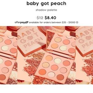 (Có sẵn) Bảng mắt colourpop baby got peach chính hãng sale