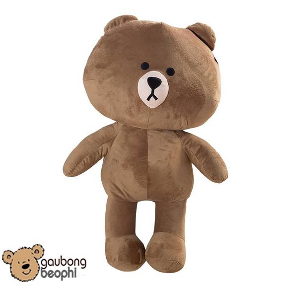 Gấu brown màu nâu nhạt khổ vải 1m2