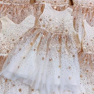 Váy trắng kim sa