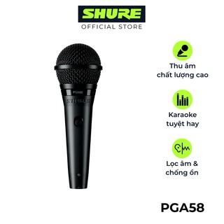 Micro Shure PGA58-QTR - Hàng chính hãng - Micro karaoke có dây Shure tuyệt vời cho biểu diễn âm nhạc và hát Karaoke