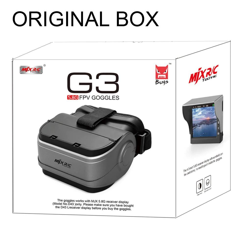 MJX G3 FPV Goggles 5,8 GHz VR Kính D43 cho bugs 6, Bugs 3