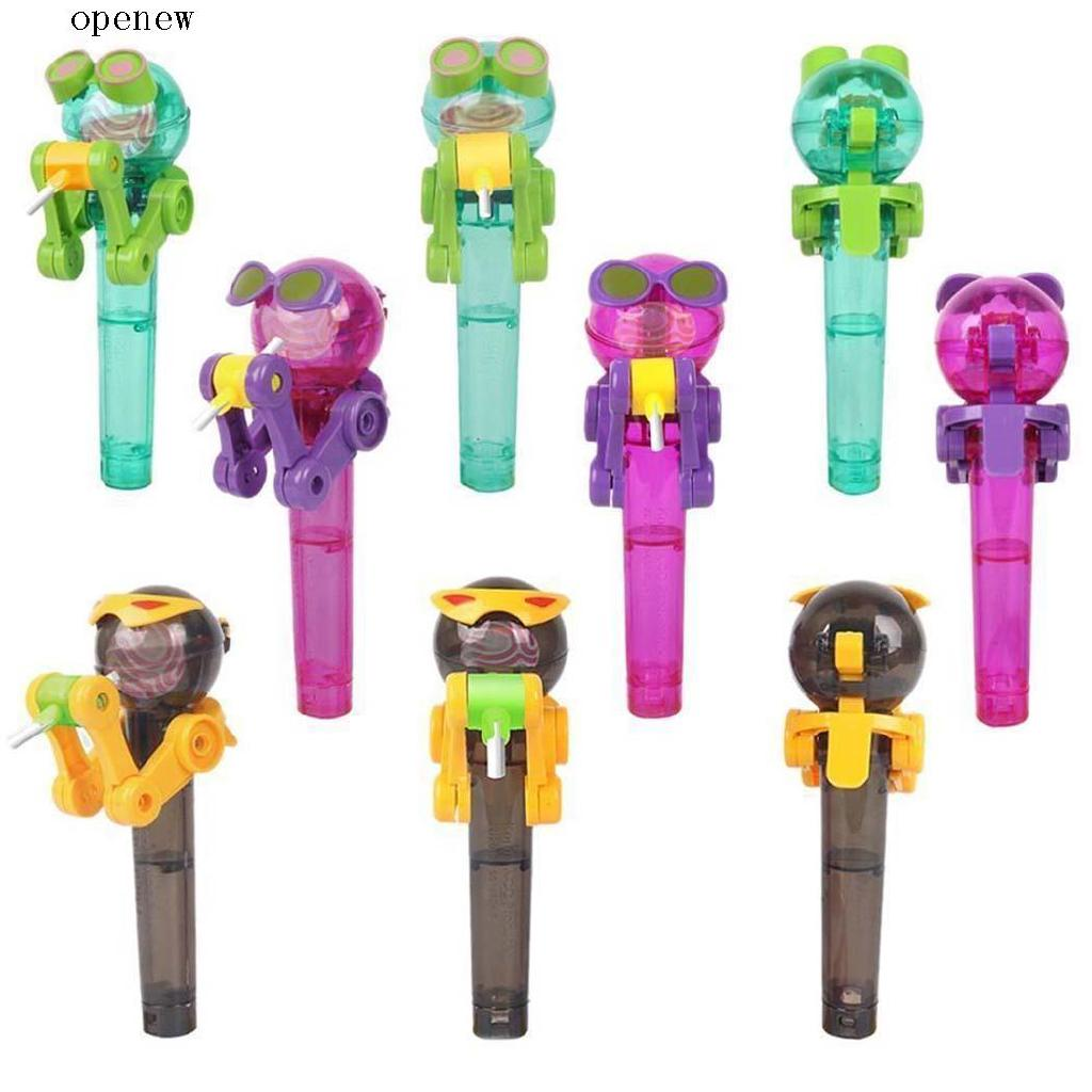 l Candy Lollipop Dustproof Cover Toys Robot Lollipop Holder