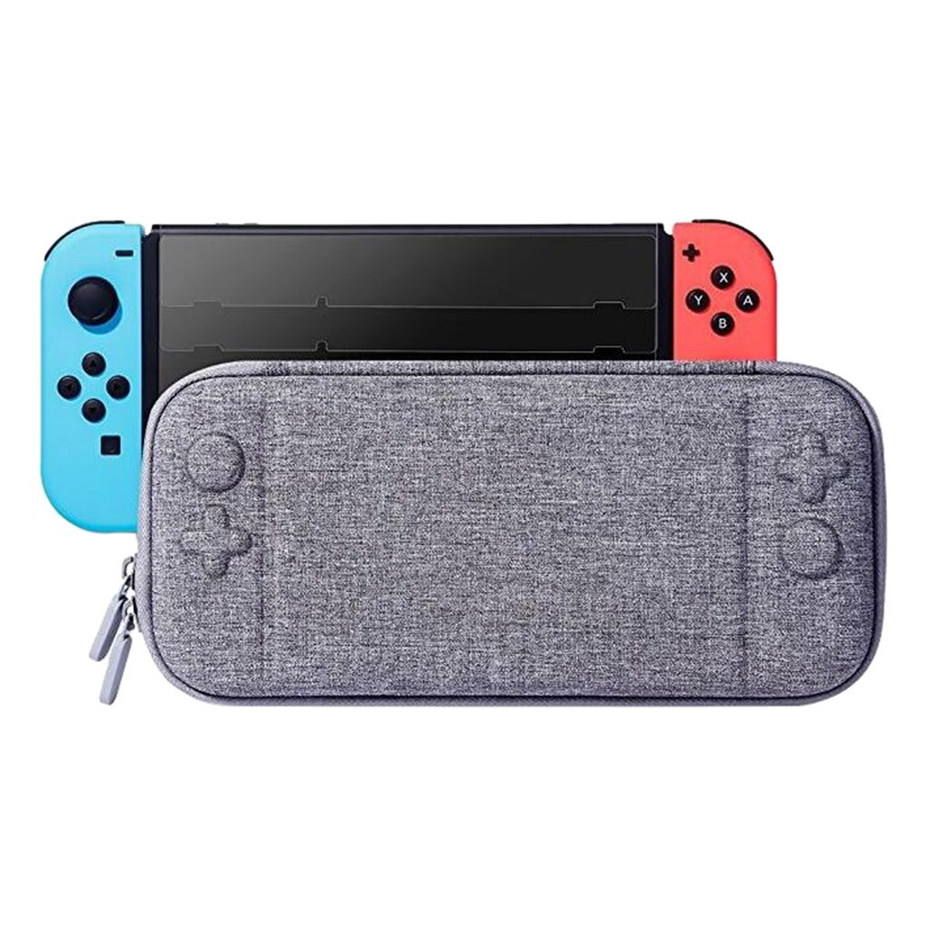 Slim EVA Hard Travel Carrying Case Storage Bag For Nintendo Switch Console Gray