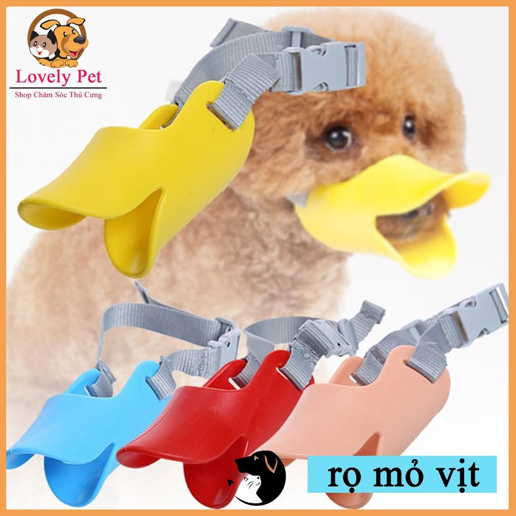 [HCM]Rọ mõm mỏ vịt nhựa mềm cho chó.
