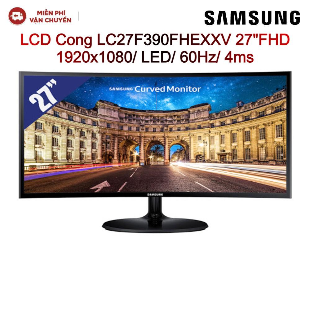 """Màn Hình Cong LCD SAMSUNG LC27F390FHEXXV 27""""FHD Đen 1920x1080/LED/60Hz/4ms - Hàng chính hãng new 100%"""