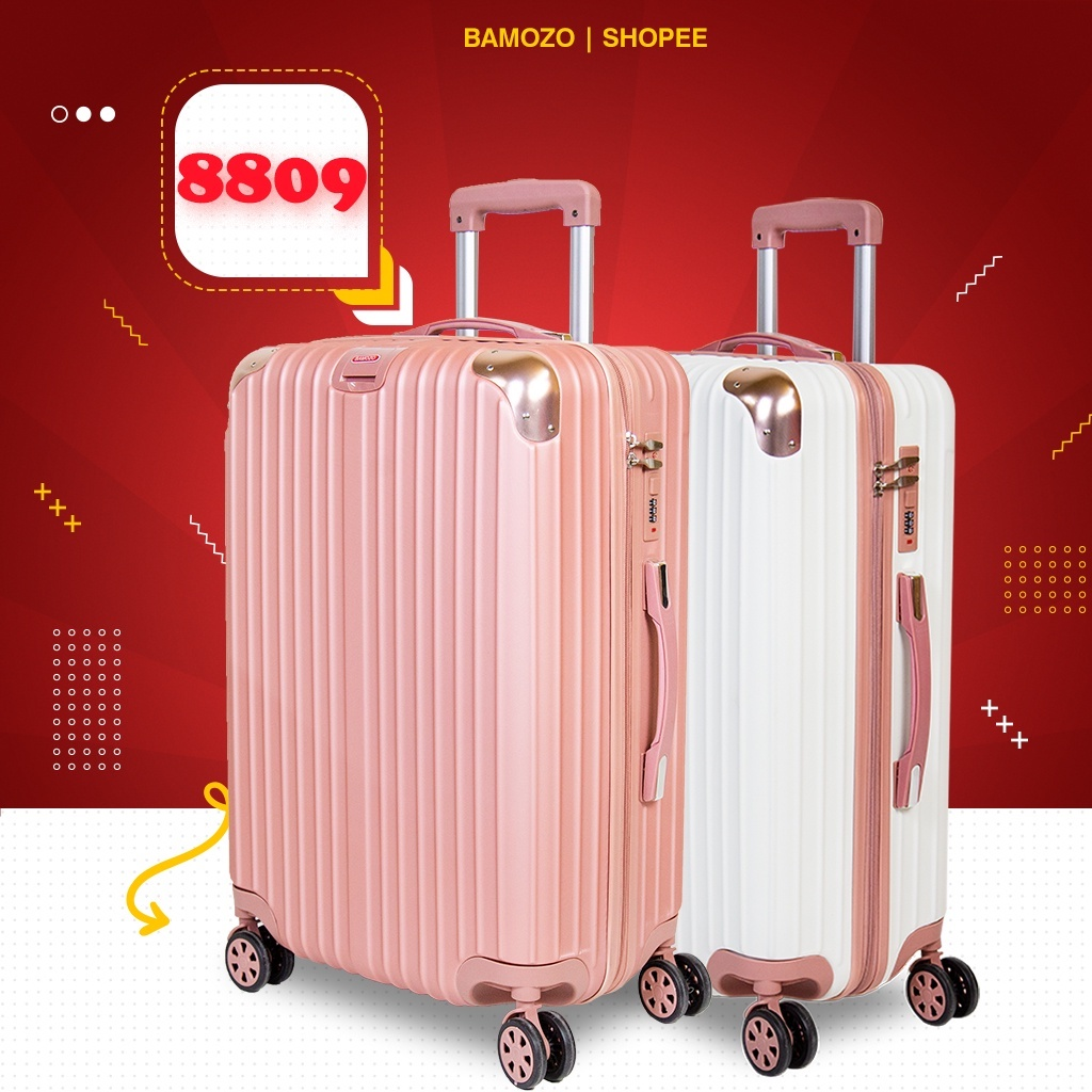 vali du lịch nữ BAMOZO 8809 ,vali kéo nhựa size 20 inch size 24 inch